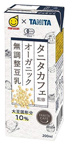 マルサン タニタ カフェ監修 オーガニック 無調整豆乳 200ml×24本