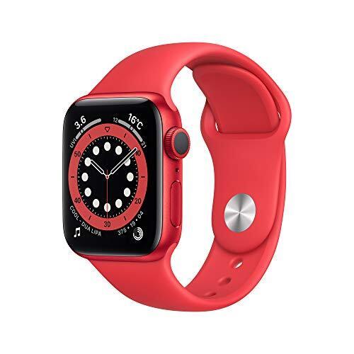 最新 AppleWatch Series 6(GPSモデル)- 40mm (PRODUCT)REDアルミニウムケースと(PRODUCT)REDスポーツバンド