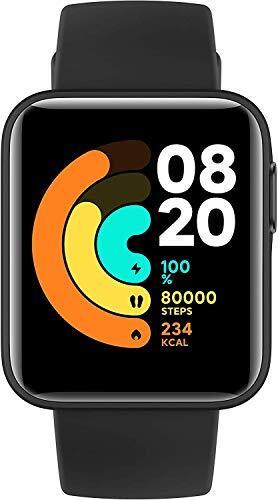 【日本正規代理店品】Xiaomi Mi Watch Lite スマートウォッチ 着信通知 スマートスポーツウォッチ 腕時計/活動量計/歩数計/心拍計 5ATM防水 連続9日間使用 GPS&GLONASS搭載(ブラック)