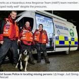 捜索救助犬の資格を得て7時間半後、行方不明者を見事発見したボーダーコリー(英)