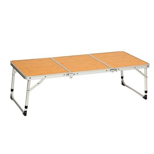 [クイックキャンプ] アウトドア 折りたたみ ミニテーブル ロング 90×40cm バンブー QC-3FT90