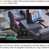 「虫さんと遊んでるの」1歳半の娘が見つめるタランチュラに父親大慌て(米)<動画あり>