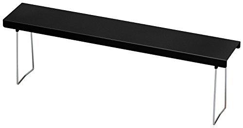 Belca キッチン棚 ベラスコート コンロスキマラック 幅58×奥行11×高さ18cm ブラック 油汚れ 水洗い 日本製 BC-KSGBK