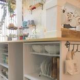 キッチンカウンター下の収納は100均で簡単に。おしゃれに整頓させる手作りアイテム
