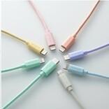 エレコム、iMacのポップなカラーに合わせたUSB-C to Lightningケーブル