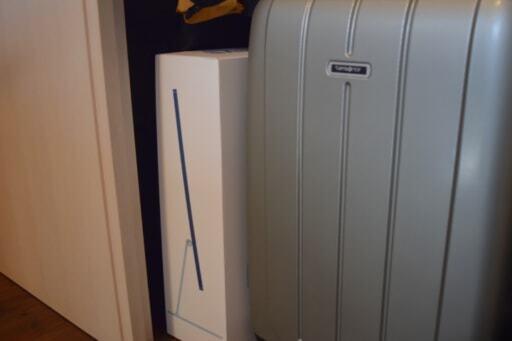 スーツケースや、捨てられないパソコンの箱も保管