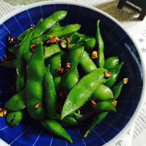 洋風料理に合う枝豆のペペロンチーノ風レシピ