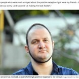 奇妙な髪型「サークル・ヘア」で注目の男性、笑いを誘うも全てはがん治療の子供達の為(英)