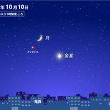 きょう10日(日)さそり座の赤い星アンタレスと金星、月とのコラボ 今夜の天気は?