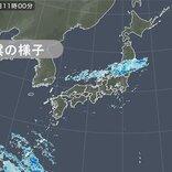 東北南部や北陸 やや強い雨を観測 夜にかけて関東~九州でも雨の降る所が多い