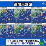 あす(水)も東北南部中心に冷たい雨 週末は高い山で雪の可能性も?
