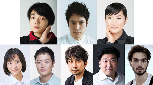 (上段左より)岡山天音、松山ケンイチ、余 貴美子(下段左より)上原千果、金子岳憲、神尾 佑、櫻井章喜、玲央バルトナー
