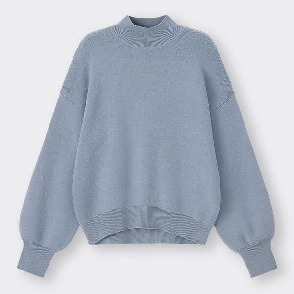 スウェットライクハイネックセーター