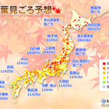 2021年 第2回「紅葉見ごろ予想」 日本気象協会発表 見ごろは全国的に平年並み