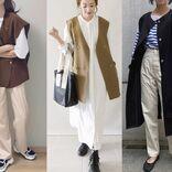 今年っぽくするなら袖なしアウター「ジレ」に注目! 身長別&なりたい印象別の最適コーデ4選