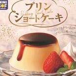ミニストップのソフトクリーム専門店、プリンまるごと「プリンショートケーキ」発売