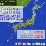 北と南で気温差大 北日本で今季全国初の最高気温1桁 九州はきょうも真夏日
