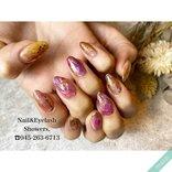 葡萄や栗のよう♡『ニュアンスネイル』でつくる秋冬のジューシー&ほっくりな指先