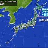 全国的に今シーズン最も寒い朝 北海道で最低気温氷点下5℃台の所も