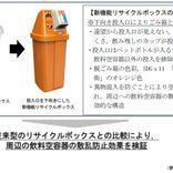 海洋プラスチックごみを減らそう 広島県と全清飲が新機能リサイクルボックスで実証実験
