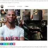 通話中に銃撃、頭を狙われるもiPhoneに命を救われた実業家(南ア)