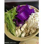 鮮やかな色をした紫白菜を鍋に入れると… まさかの出来上がりに衝撃走る