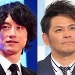 坂口健太郎&岡田圭右、表情の温度差激しすぎ! 『ハンオシ』上司・部下2ショットに反響