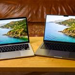 新型14インチMacBook Proと13インチMacBook Pro(2020)のサイズ比較をしてみました